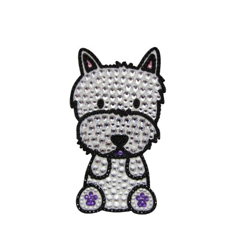 FouFou Dog 92975 RHINESTONE STICKERS Westie Terrier cadeau-idee sticker