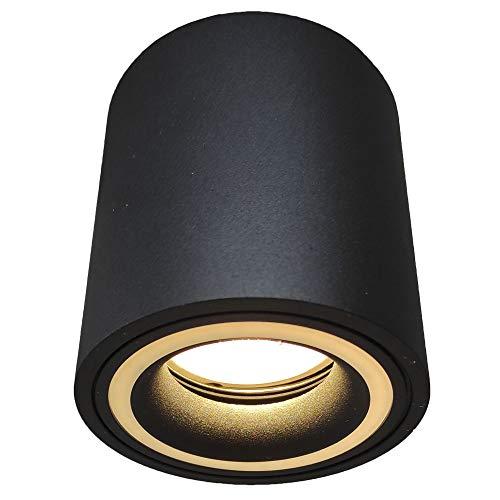 Foco de techo LED para interior, Aplique negro, Lámpara de superficie. Incluye...
