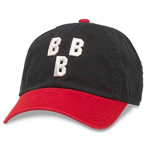 AMERICAN NEEDLE Ballpark Vintage NNL Baseball Cap, Birmingham Black Barons, Black/Red (43027A-BBB)