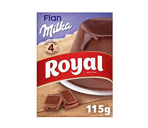 Royal Flan de Chocolate Milka, Preparado en Polvo 4 Raciones, 115g