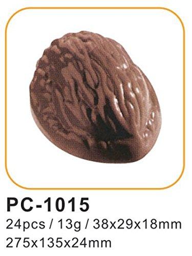Polycarbonat-Form für professionell aussehende Pralinen, WALNUT Polycarbonate Chocolate Mould 24pcs