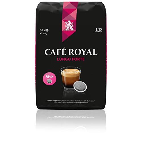 Café Royal Lungo Forte 56 kompatible Kaffeepads für Senseo®*, Intensität 8/10, 1er Pack (1 x 56 Kaffee-Pads)