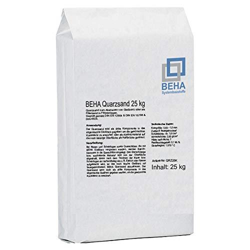 Quarzsand zum Abstreuen von Gießharz oder als Filtersand für Filteranlagen 25 kg