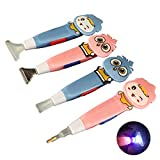 Rolin Roly 4 Pezzi Trapano Penna Diamond Painting con Luce LED, DIY Diamond Painting 5D Cross Stitch Point Drill Pen Colore Casuale