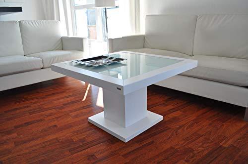 Design Couchtisch Tisch S-360 Weiß Milchglas Carl Svensson