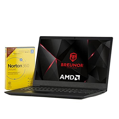 Notebook Lenovo Iron Grey pc portatile Display 15,6  Ram 4Gb DDR4, SSD M.2 da 256Gb , Cpu Amd A4 3020 di ultima generazione, WebCam, Hdmi, Windows 10 Pro, Pc Pronto All uso + ANTIVIRUS