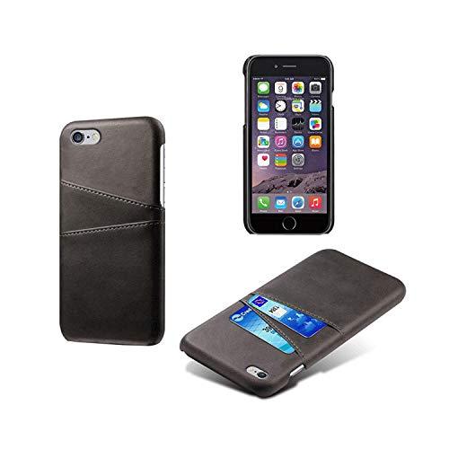 Funda de piel sintética para iPhone 4, 4S, 5, 5S, 5C, SE, 6, 6S, 7, 8 Plus, XS, XS, XS, XX, XS, Max, 11, Pro, Max, ranuras para tarjetas, teléfono móvil, de piel sintética, para 5, 5S, SE, 4, color negro