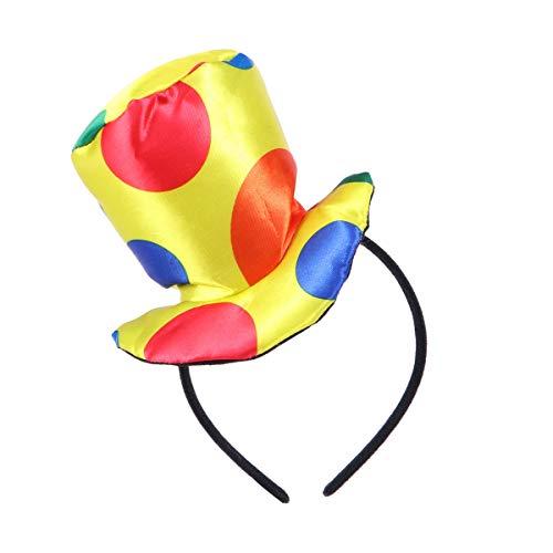 STOBOK Jester Diadema Payaso Sombrero Superior Diadema Traje de Carnaval Divertido Rendimiento Complementos