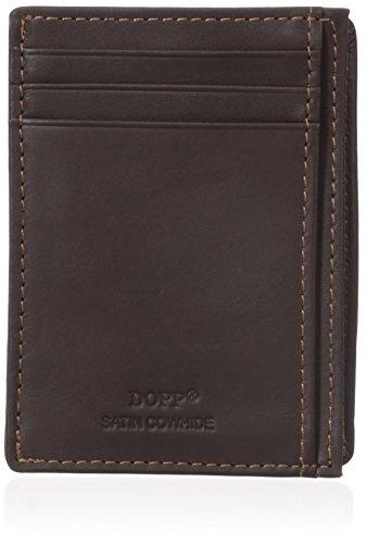 Dopp Men's Regatta Front Pocket Get-Away Minamalst Slim Wallet, Mahogany, One Size