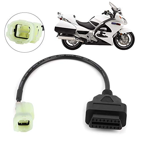 STF Adaptador de cable de diagnóstico, OBD2 a 4 pines adaptador de cable de diagnóstico para Honda motocicleta ATV