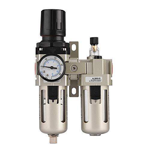 Cocoarm Druckluft Wartungseinheit 3/8 Wasserabscheider Druckminderer Der Filter reinigt die Luft und kann die Feuchtigkeit in der Druckluft filtern, sodass kein Wasser in das Gerät eindringen kann