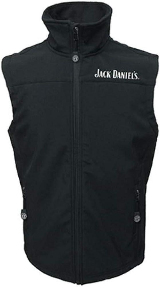 Jack Daniels Men's Daniel's Old No 7 Softshell Vest Black Medium
