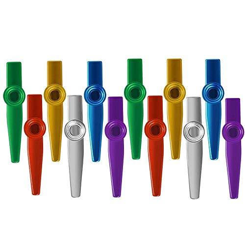 Kazoo Metal Musikinstrumente Kazoos Multipack Flötenblende für Kinder Party Favors Geschenke, guter Begleiter für Gitarre, Ukulele, Violine und Keyboard - 12 Stck