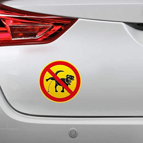 13Cm X 12.9Cm para perros Orinar está prohibido Personalidad Pegatinas creativas Etiqueta engomada del coche Decoración del coche