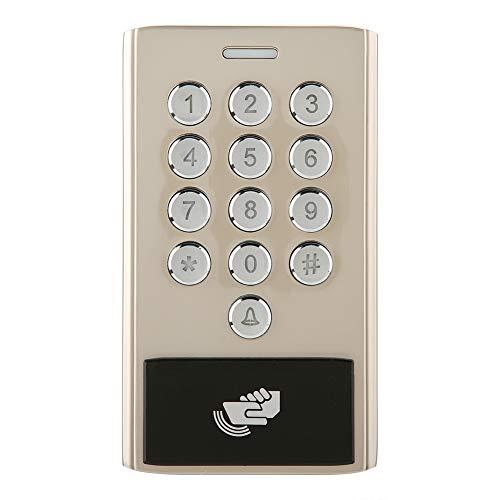 Zugangskontrolle Kartenleser, Metall RFID-Kartenleser Passwortsperre Zutrittskontrolle, Smart Zugangssystem Türöffner für Home Sicherheit