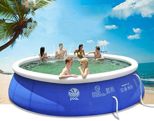 MUANSER Aufblasbarer Sommerpool, Wasserpark Kiddie Pool, Sommerfamilienpool für Erwachsene und Kinder,360x76cm