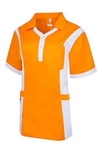 Clinotest Damenkasack Julia, Gesundheitswesen, für die Pflege, Berufsbekleidung, in Trendfarben (M, sun/weiß)