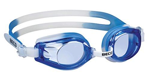 Beco Kinder Rimini Schwimmbrille 9926, mehrfarbig - Weiß/Blau, Einheitsgröße - One Size