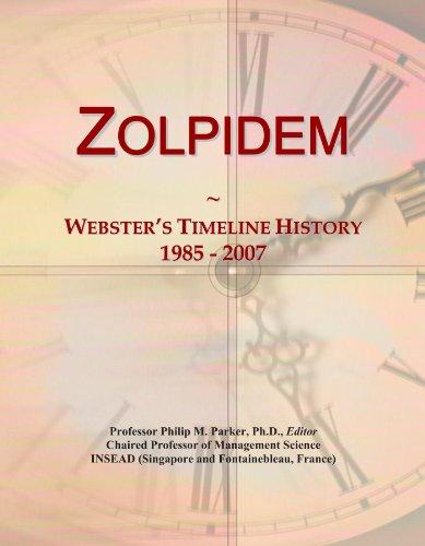 Zolpidem: Webster's Timeline History, 1985 - 2007