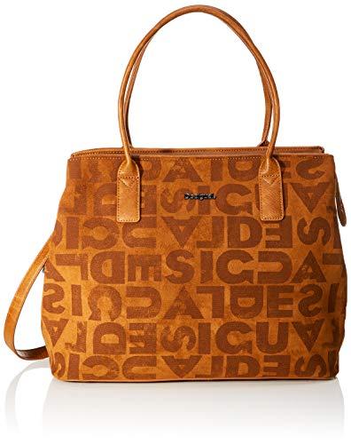 Desigual Damen Bag Brand Holbox Umhängetasche, Braun (Marron), 30.5x17x37 cm