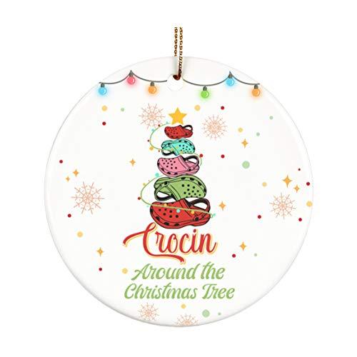 Mourin Shop Crocin' Around The Christmas Tree - Adorno para árbol de Navidad