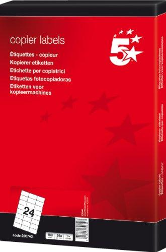 5 StarTM - Etiquetas impresión impresoras inyección