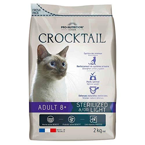 Flatazor - Croquettes CROCKTAIL 8+ Sterilized Light pour Chat - 2Kg