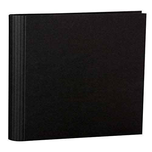 Semikolon (353288) Fotomappe 23 Ring black (schwarz) -Mit Efalinbezug - Basis für Foto-Album oder Fotobuch mit Ringheftung - Format: 35 × 32 cm
