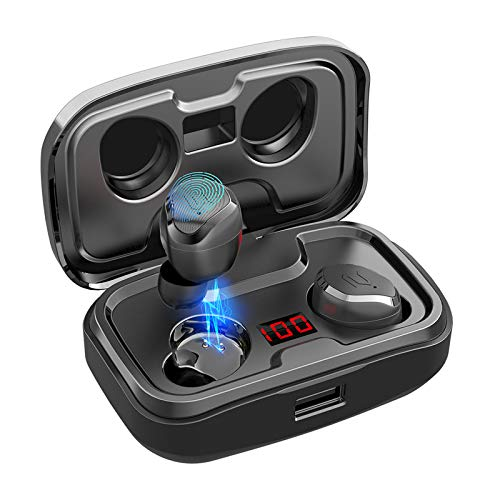 Bluetooth 5.0 S8 Plus Wireless Earbuds, HiFi Deep Bass Bluetooth Headphones Touch Control with Mic...