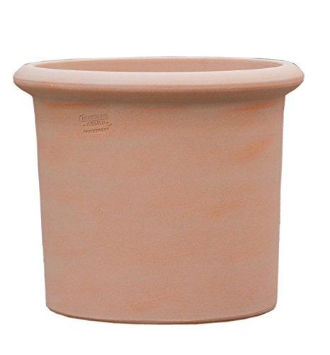 Hentschke Keramik Pflanztopf/Pflanzkübel frostsicher Ø 50 x 43 cm, terrakotta, 112.050.53 Blumenkübel für Draußen + Innen - Made in Germany
