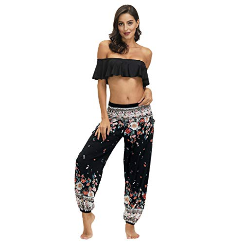 XAJ Pantalones Bombacho Mujer, Harén Pantalón Chandal árabe Pantalones de Yoga Pantalones Deportivos Harem Pantalón