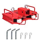 Sulythw 2 inch Insert Forklift Trailer Hitch Receiver for Dual Pallet Forks Towing Adapter Attachment Heavy Duty Steel 6500lbs Capacity