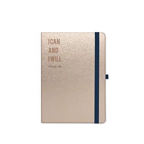 YUNYOTE Diafragma bonte gestippelde notitieboek-verband-persoonlijk dagboek dagboek bal journaal-gouden zilveren harde notitieblok van het oppervlak A5