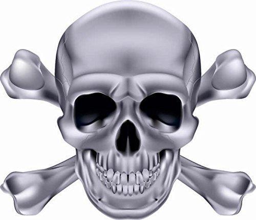U24 Aufkleber Pirat Totenkopf Silber Autoaufkleber Sticker