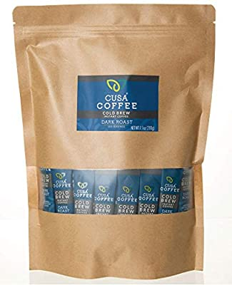 Cusa Coffee: Dark Roast Cold Brew Instant Coffee - No Sugar or Preservatives - Ready in Seconds - Hot or Iced (100 Servings)