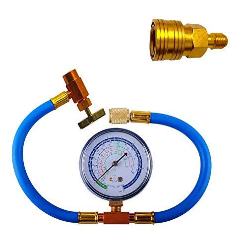 aheadad Auto Auto Klimaanlage Kältemittel Nachfüllen Messschlauch Manometer Kit Kältemittelzusatzrohr für Haus und Auto 1 / 4SAE R134A R22