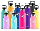 KollyKolla Botella de Agua Acero Inoxidable, Termo Sin BPA Ecológica Reutilizable, Botella Termica con Pajita y Filtro, Water Bottle para Niños & Adultos, Deporte, Oficina, Yoga, (750ml Rosa Roja)