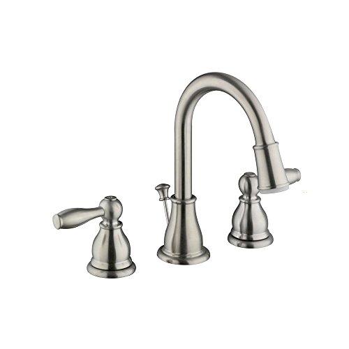 Glacier Bay HD67817W-6004 Mandouri 8' 2Handle LED Bathroom Faucet Brushed Nickel