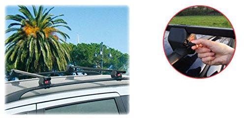 Seguro y rápido de montar Acero Baca 90311060para Volkswagen (VW) Touareg con alcance normal (hochstehender techo)–Certificación TÜV