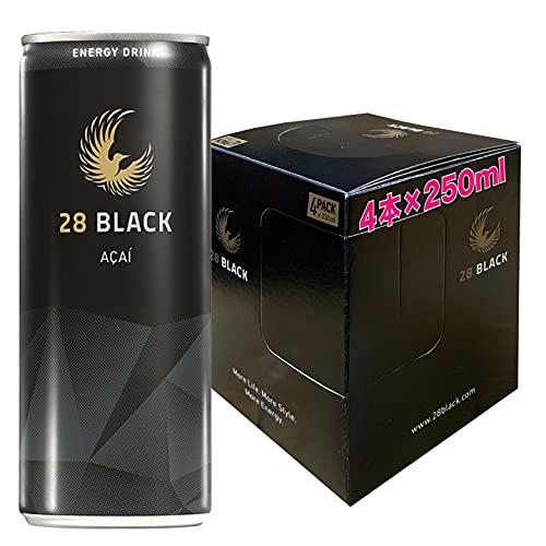 28 BLACK AÇAI | 静かなるエナジィ (アサイー, 4本パッケージ)