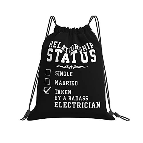 AOOEDM I 'M An Electricista Bolsas con cordón Beam Mouth Gym Sack Mochila de almacenamiento de viaje Bolsas de hilo impermeables para hombres y mujeres
