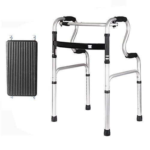 Z-SEAT Rollator Walker Faltbarer Aluminium-Walker, Leichter Walker für Senioren 8-stufige Höhenverstellung mit Rädern und PU-Kissen