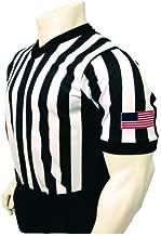 Smitty Men's V-Neck Basketball Referee Shirt with Black Side Panel & USA Flag