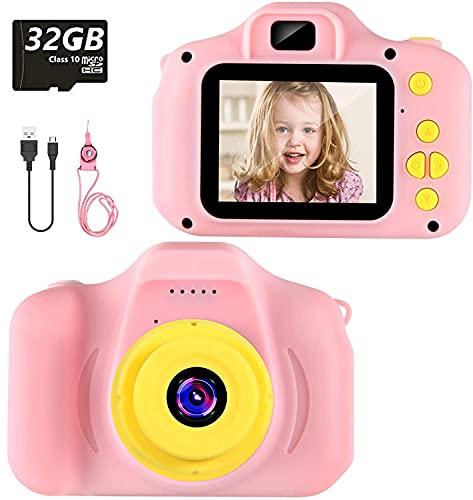 Cámara para Niños Infantil Cámara de Fotos Digital Cámara Juguete para Niños 2 Pulgadas 12MP 1080P HD Selfie Video...