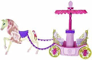 Barbie Princess Charm School Horse And Carriage