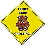 Toddrick Teddy Bear Crossing Imaginary Animal Novelty Vinyl Hazard Zinn schicke Zeichen Vintage-Stil Retro Küche Bar Pub Coffee Shop Dekor 8