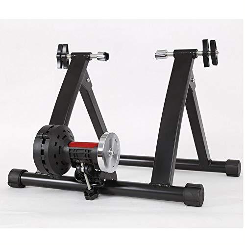 WOGQX Bike Trainer Stand, Indoor Bicycle Bike Trainer 6 Speeds 24-27.5 Inch Wireless Black Indoor Bicycle Bike Trainer Exercise Fitness Stand Indoor