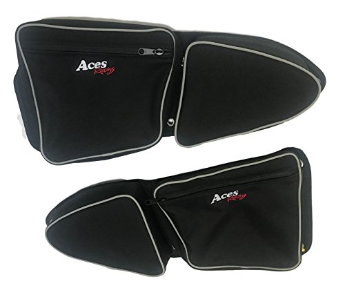 Aces Racing Polaris RZR Front Door Bags Pair (Black)