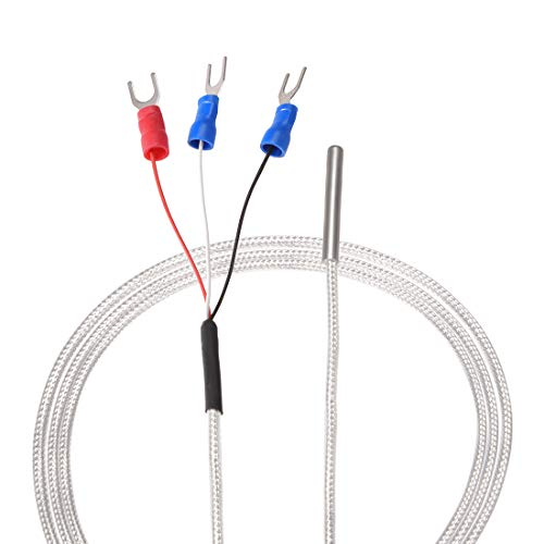 uxcell PT100 RTD Temperature Sensor Probe 3 Wires Cable Thermocouple Stainless Steel 100cm 3.3ft Temperature Rang: -20 420°C