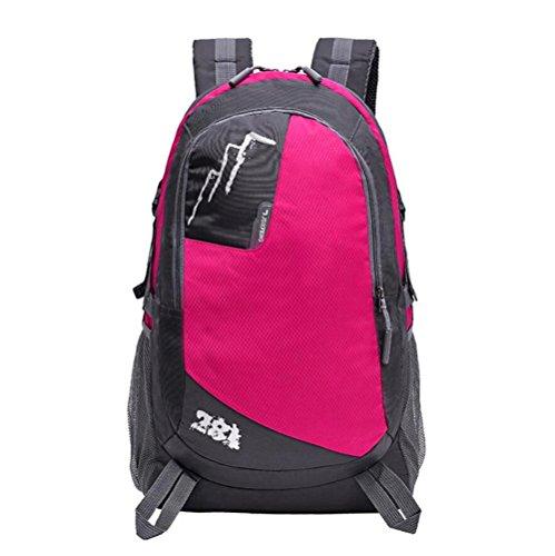 28L étanche grande capacité Outdoor Alpinisme Sac Voyage sac à bandoulière Sac à dos sport , rose red